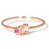 Del Mar Geometric Cluster Ring in 14k rose gold