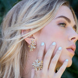 Sweet Bling Marisol Gold Cluster Earrings