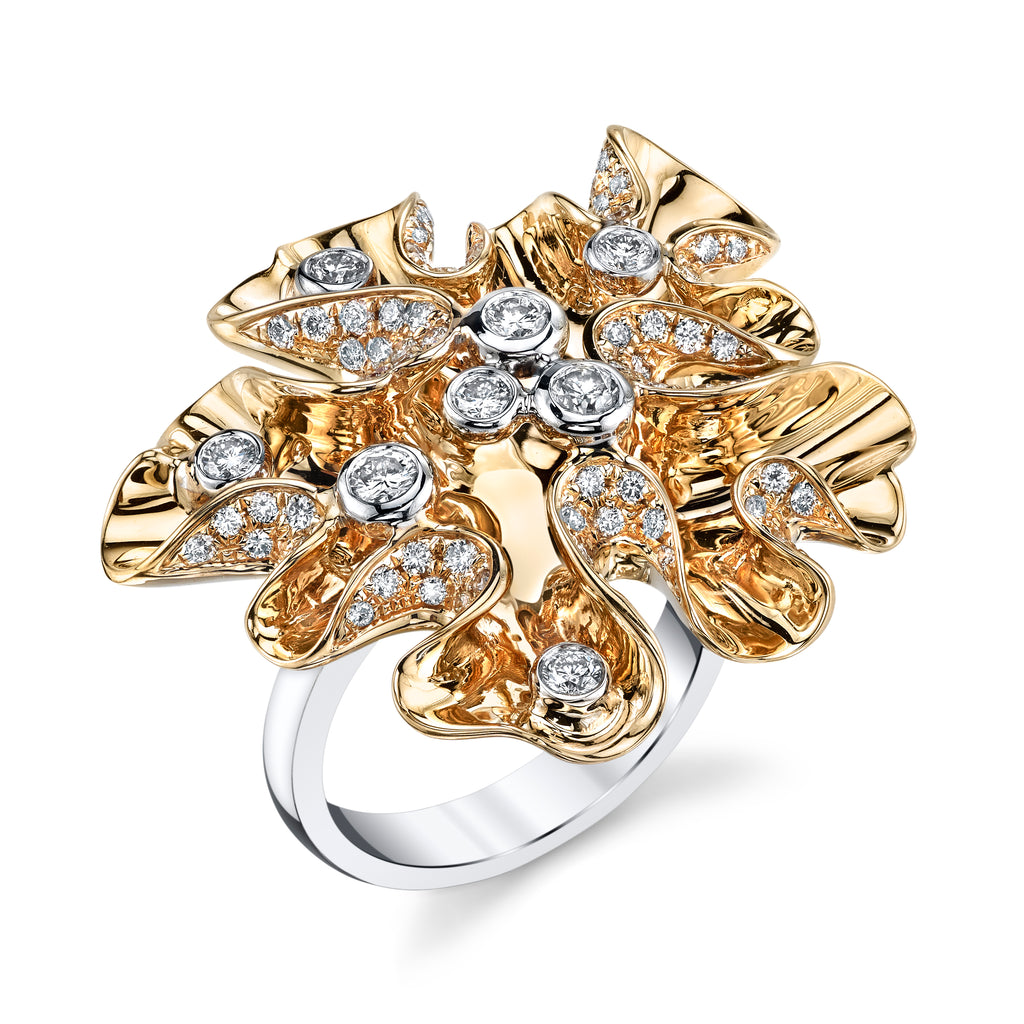 Marisol Gold Cluster Diamond Ring
