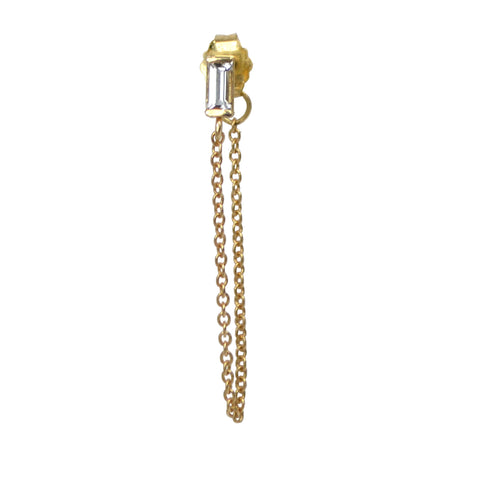 BAGUETTE THREADER EARRING