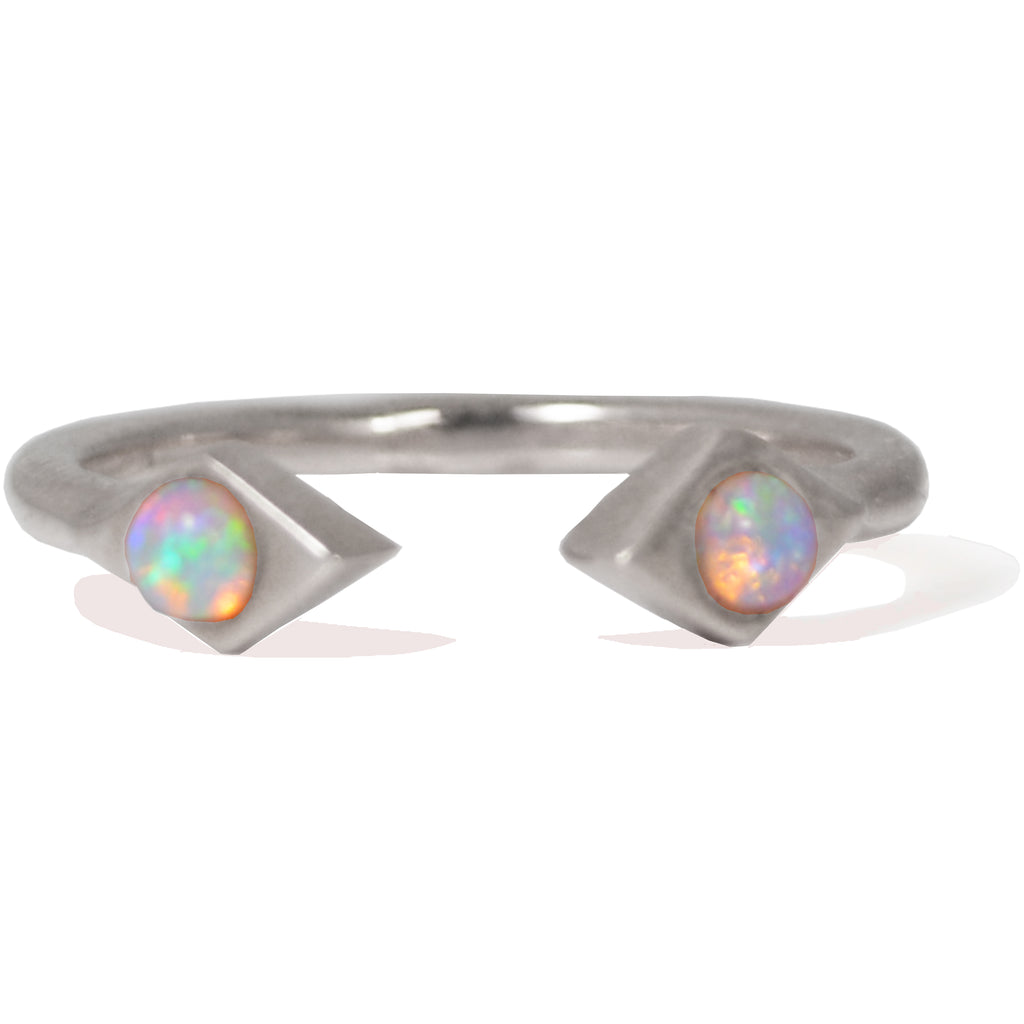 Sweet Bling Azra Ring with Opals in White Gold