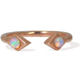 Sweet Bling Azra Ring with Opals in Rose Gold