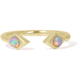 Sweet Bling Azra Ring with Opals in Yellow Gold