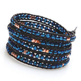 ELECTRIC BLUE WRAP BRACELET