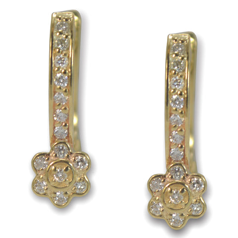 Marisol Gold Cluster Diamond Earrings