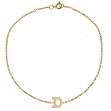 Load image into Gallery viewer, Single Letter Gold Initial Bracelet by Sweet Bling