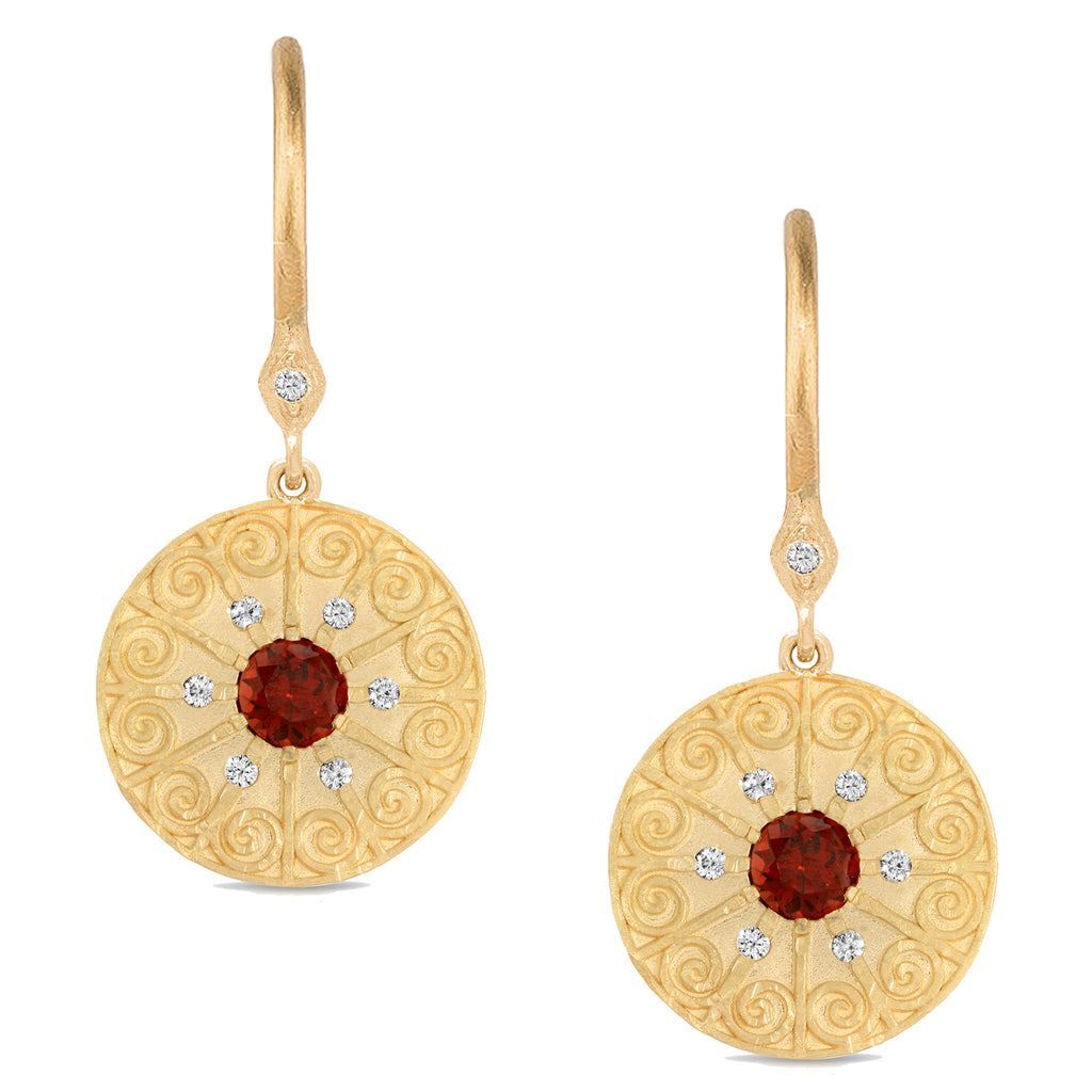 LA RIOJA AMOR MEDALLION EARRINGS