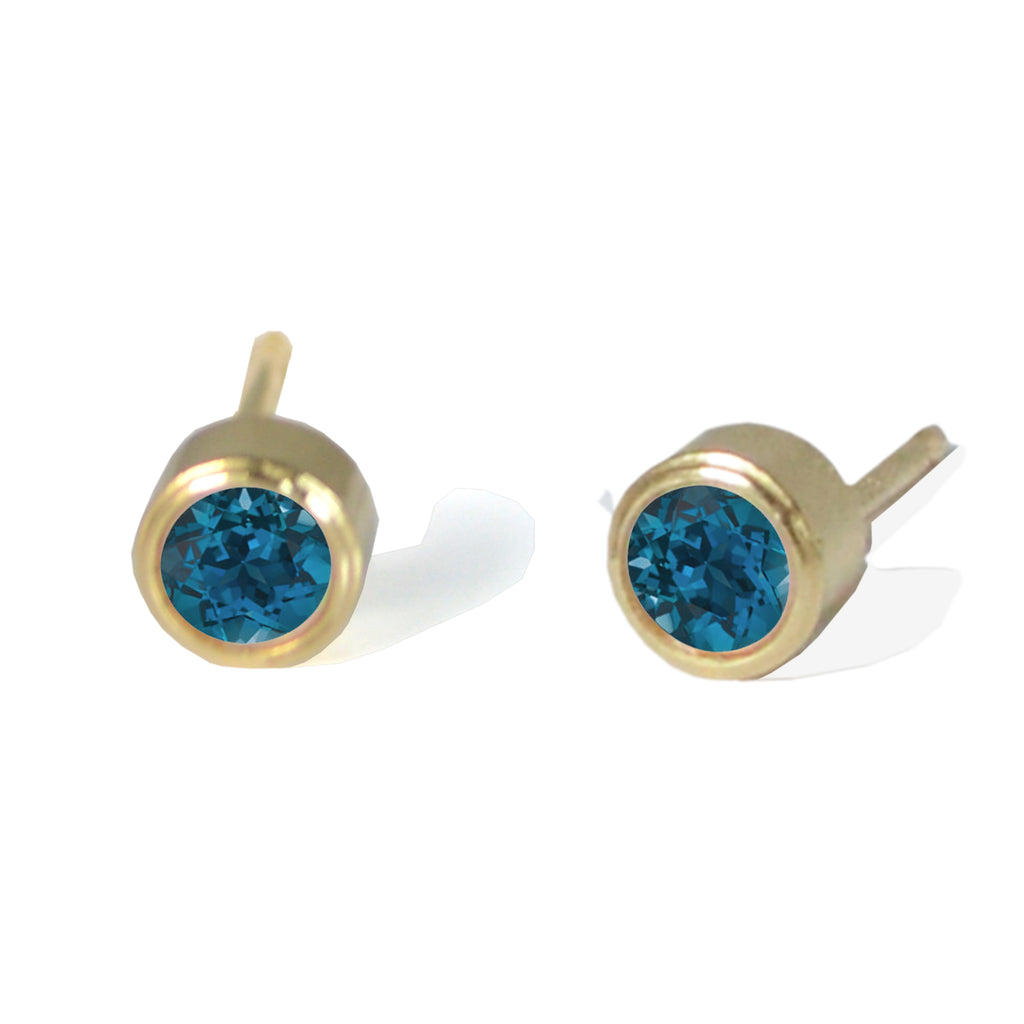 London Blue Topaz Studs