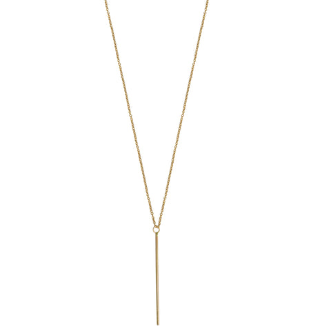SEVEN MILE SINGLE DIAMOND BAR NECKLACE