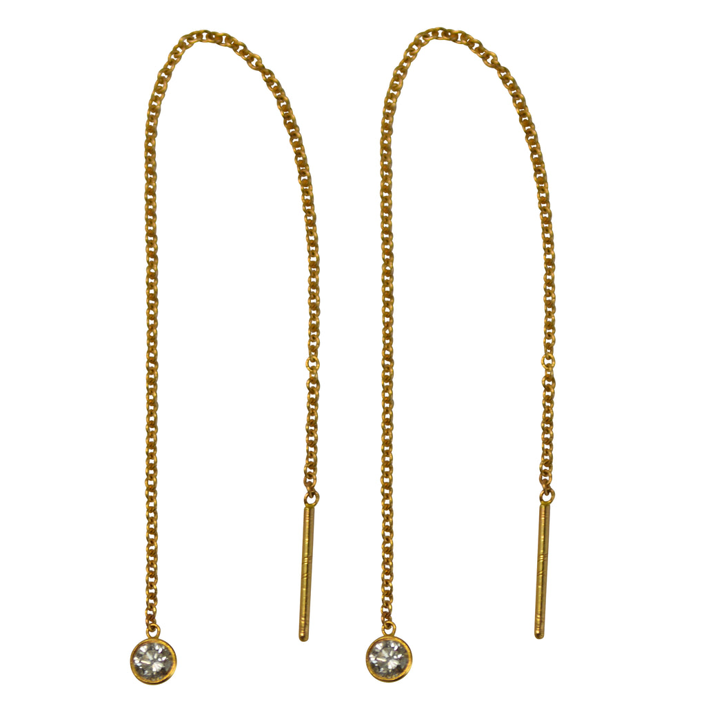 Diamond Threader Earring (Pair)