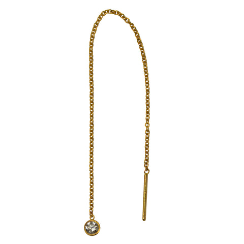 LUCIA DIAMOND LARIAT EARRING