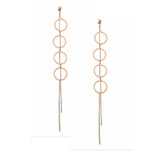 Chain of Circle Earrings by Nakamol