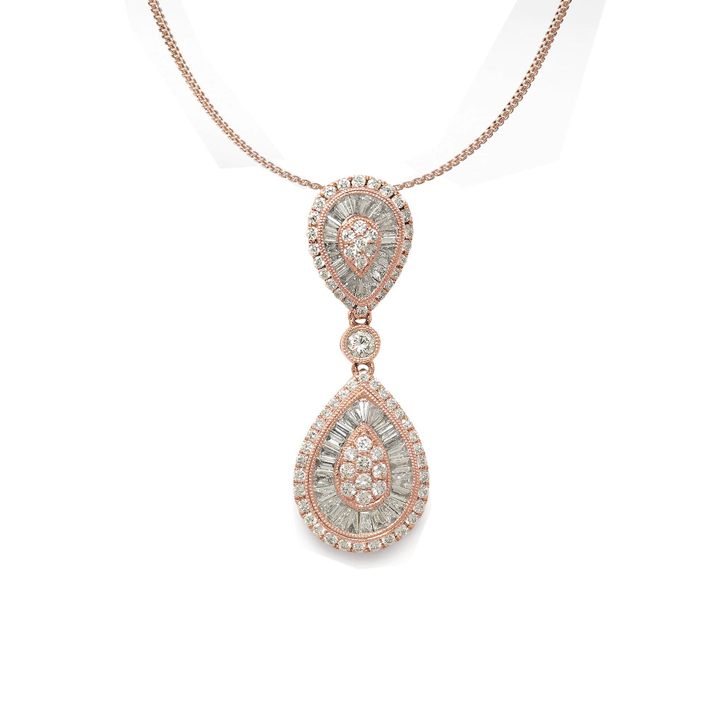 Alexandra Rose Gold Diamond Necklace