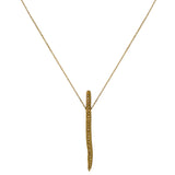 GOLD STICK NECKLACE WITH CRYSTALS