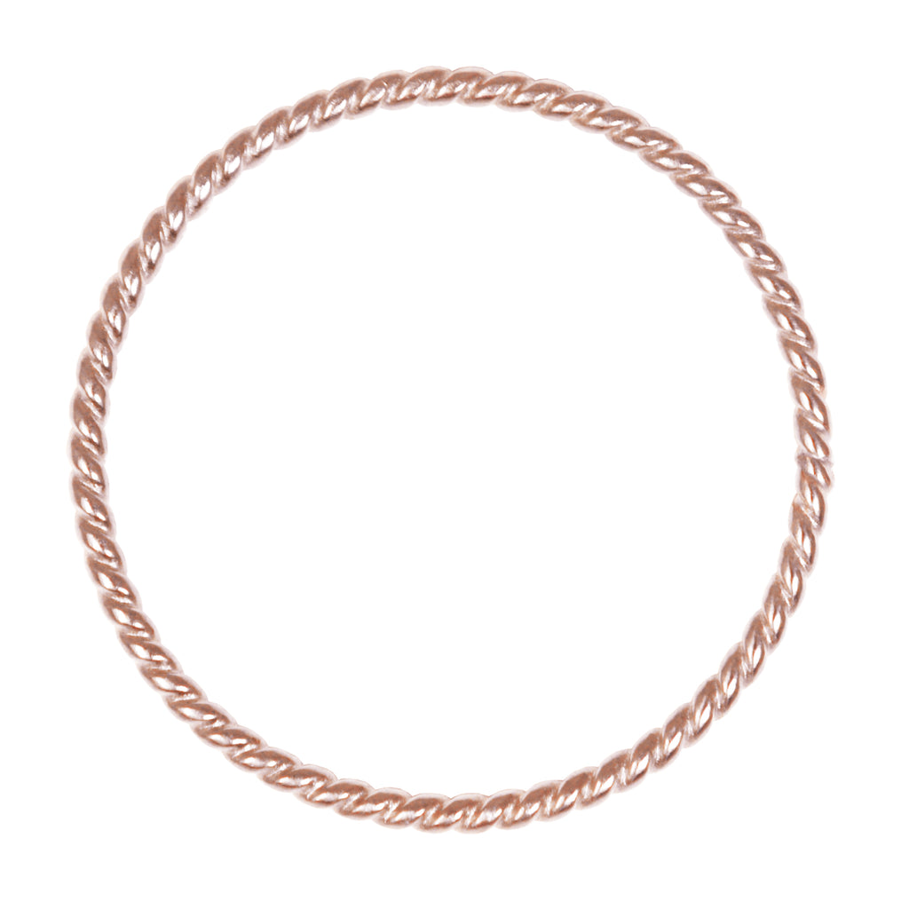ROSE GOLD TWIST STACKING MIDI RING