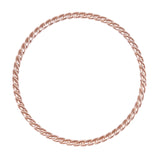 ROSE GOLD TWIST STACKING RING