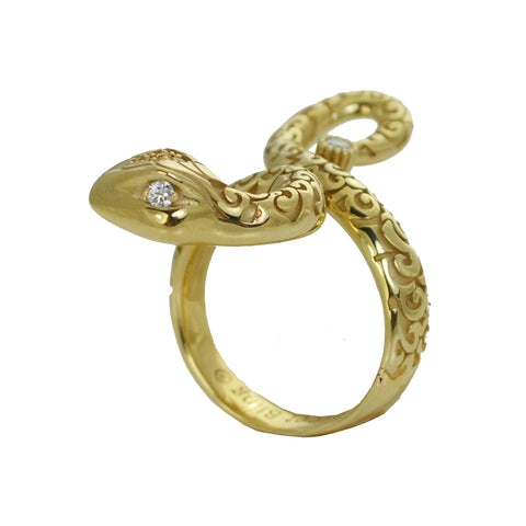 ENCHANTRESS SNAKE RING WHITE GOLD