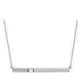 Seven Mile Single Diamond Bar Necklace 14K White Gold