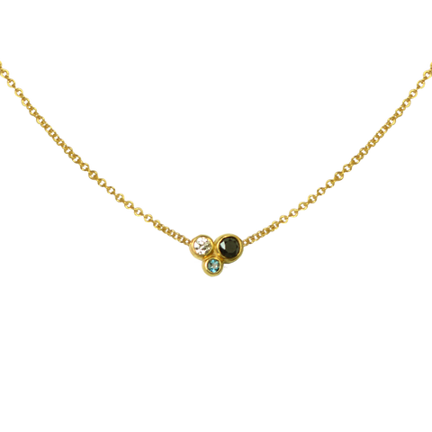 SOLITAIRE LONDON BLUE TOPAZ NECKLACE