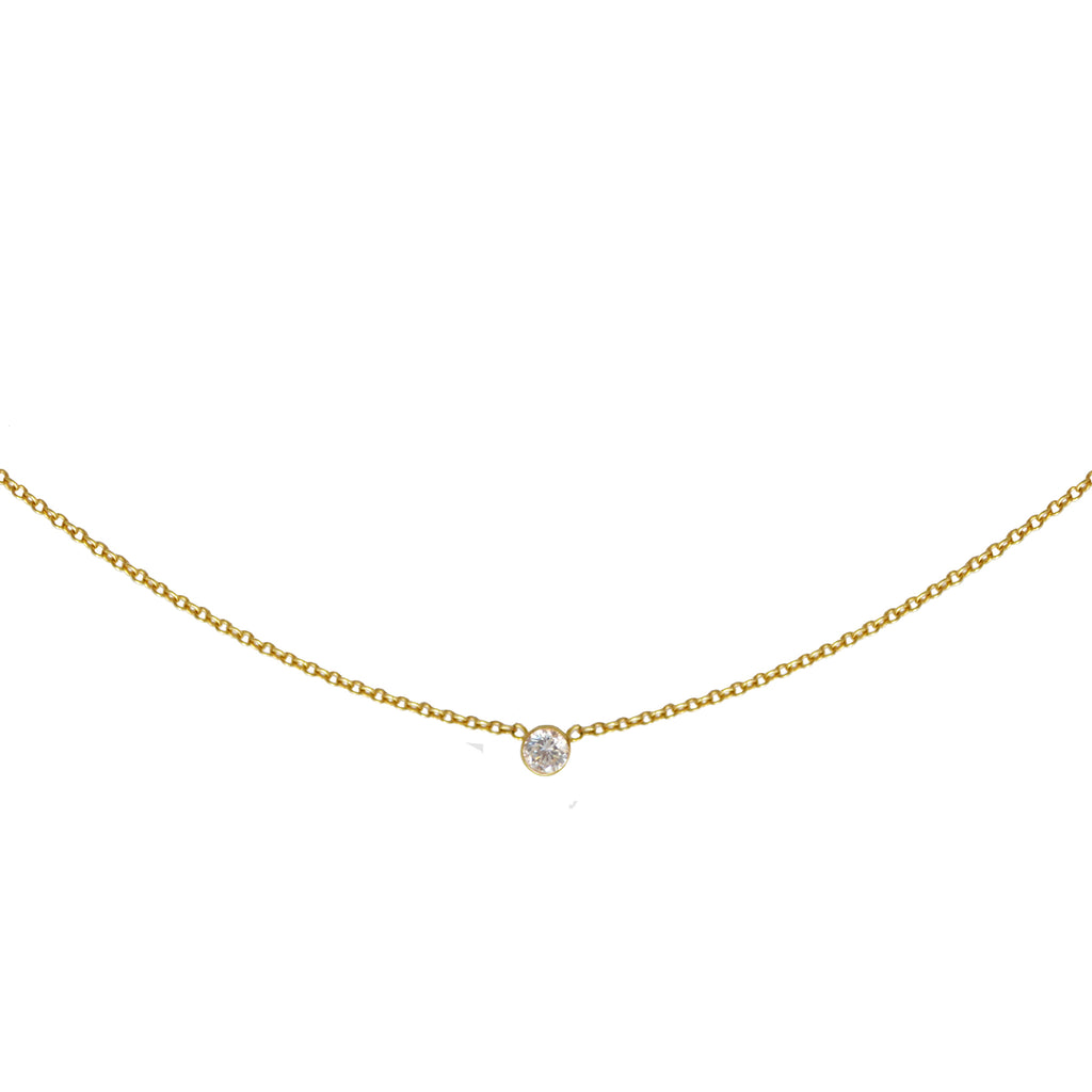 Sweet Bling Solitaire Diamond Necklace