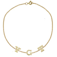 Load image into Gallery viewer, Gold Initial Bracelet by Sweet Bling - Three Initials
