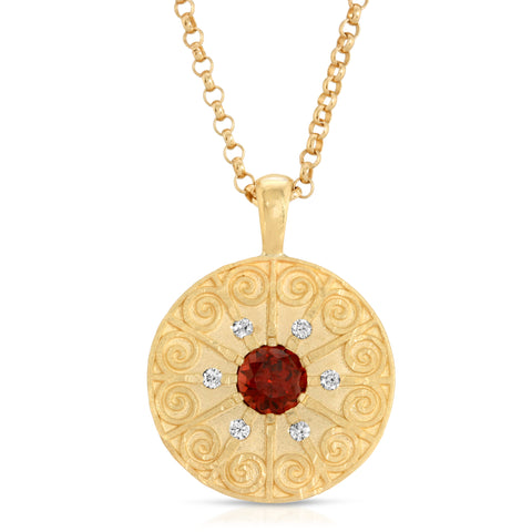 LA RIOJA ROPE MEDALLION NECKLACE