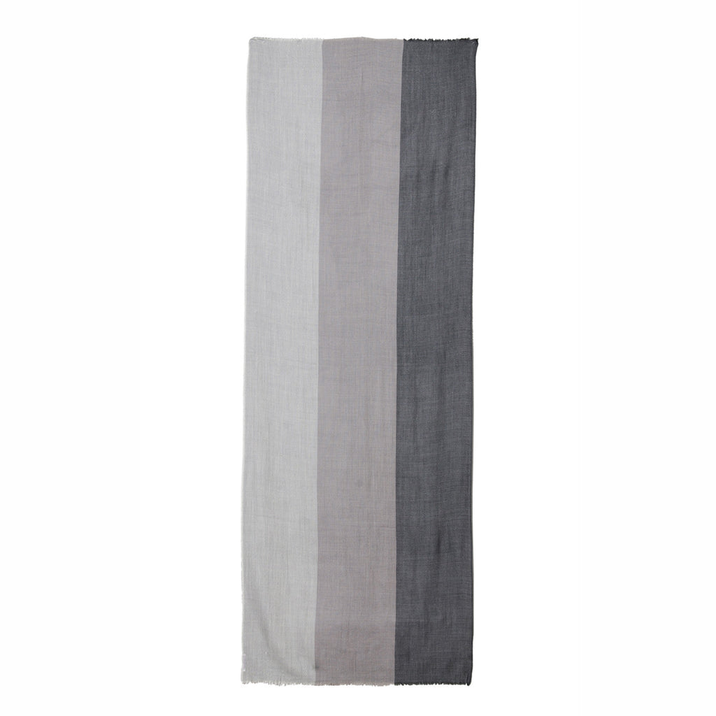 THREE-STRIPE WOOL SCARF - MENZER HAJIYEVA