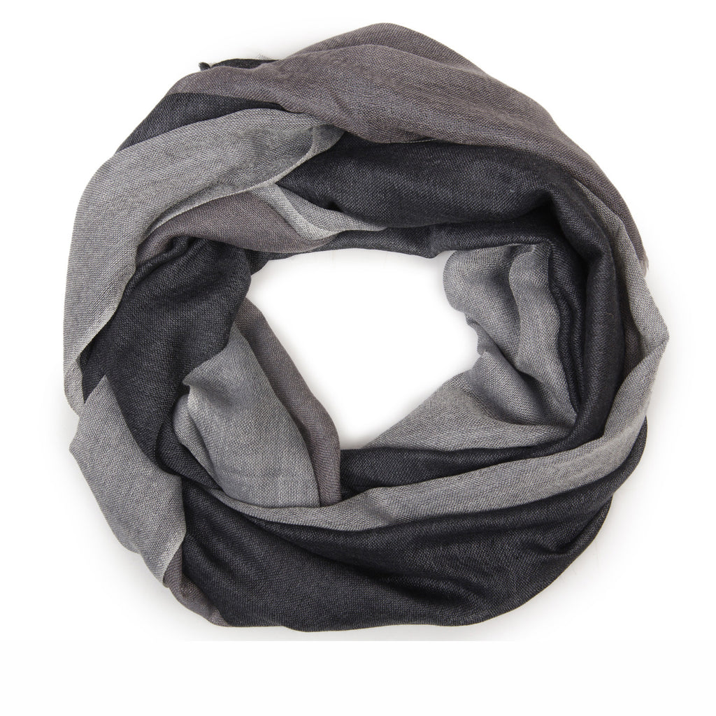 THREE-STRIPE WOOL SCARF
