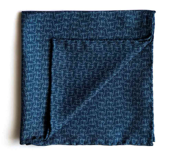 PRINTED SILK-TWILL POCKET SQUARE