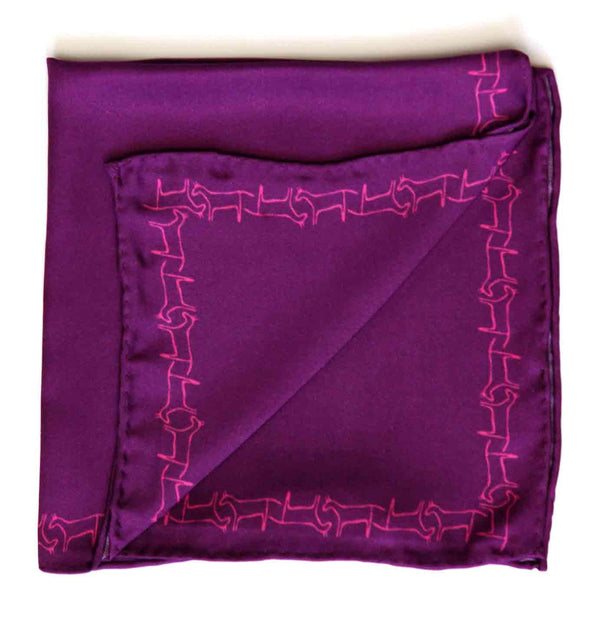 PRINTED SILK POCKET SQUARE - MENZER HAJIYEVA