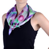 ANGELINA GRAY SILK SCARF