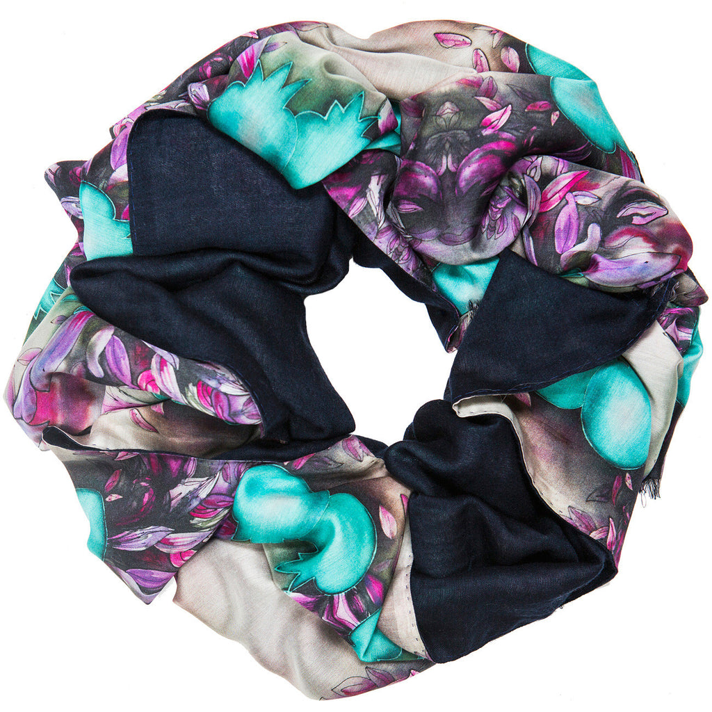 SELIN DOUBLE SIDED SILK SCARF - MENZER HAJIYEVA