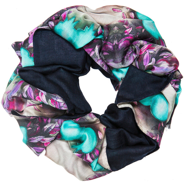 SELIN DOUBLE SIDED SILK SCARF