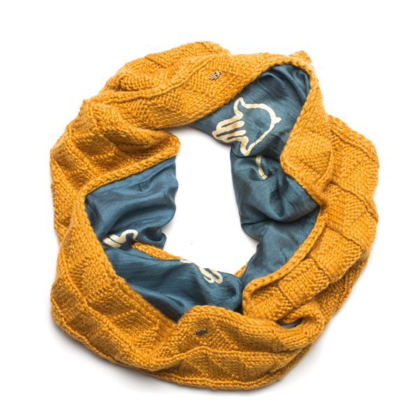 AYNUR OCHRE DOUBLE SIDED SCARF