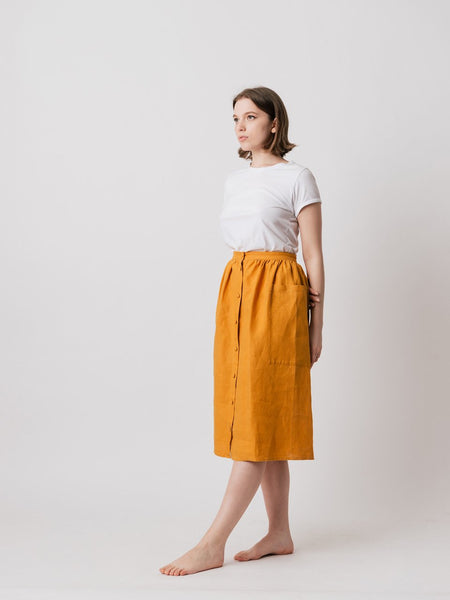 Kid Philosophy Linen Skirt Slow Fashion