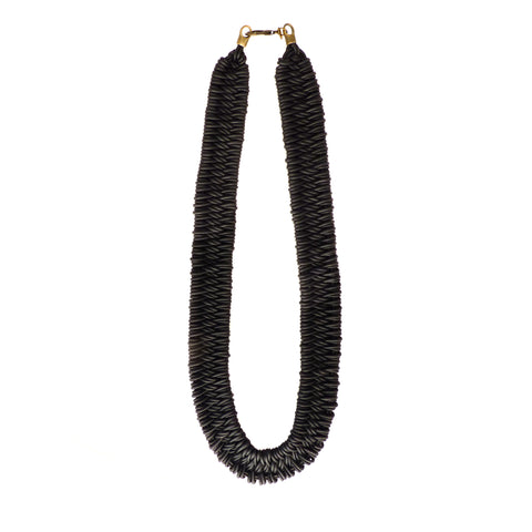LEATHER ESTERO NECKLACE IN ONYX