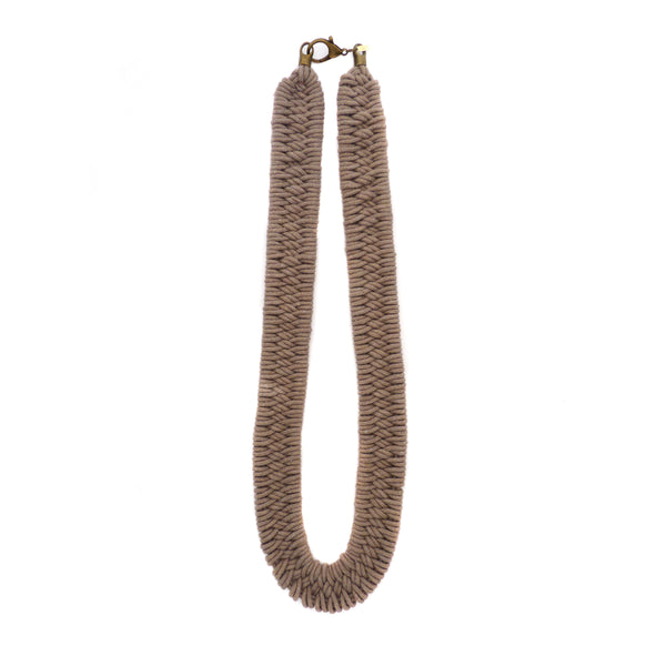 Estero Hand Woven Necklace Driftwood
