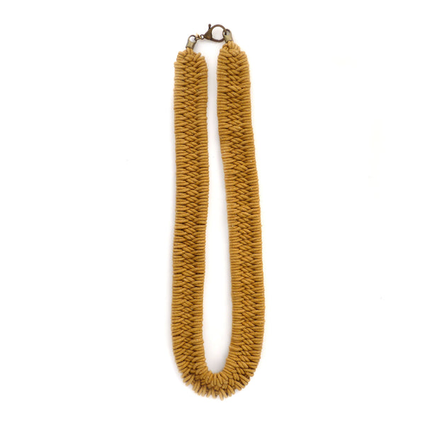 Estero Hand Woven Necklace Golden Ochre
