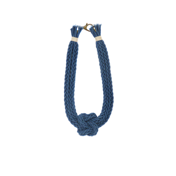 Indigo Hand Dyed Bonita Love Knot Necklace