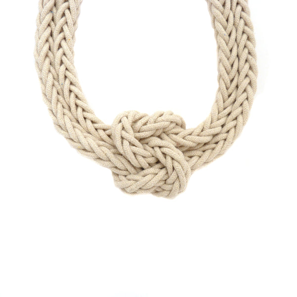 Hand woven Bonita Love Knot Necklace
