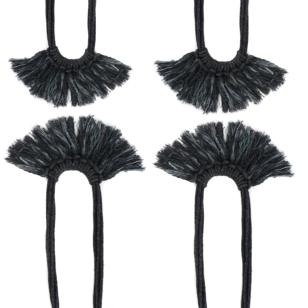 Saguaro Fringe Necklace Graphite