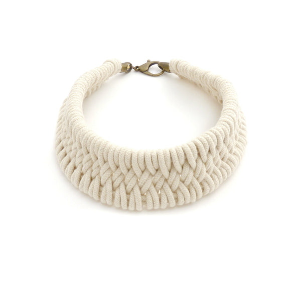 Tomales Hand Woven Necklace Driftwood