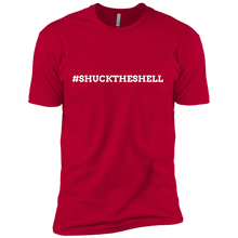Red Men's Shuck The Shell T-Shirt by Boilerplate Crab & Co