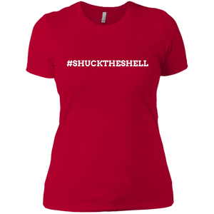 Red Women's Shuck The Shell T-Shirt by Boilerplate Crab & Co