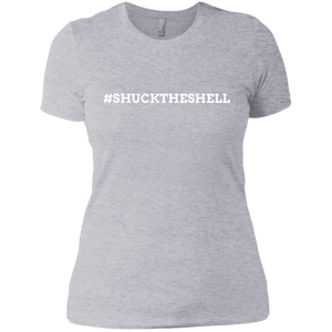 Light Gray Women's Shuck The Shell T-Shirt by Boilerplate Crab & Co