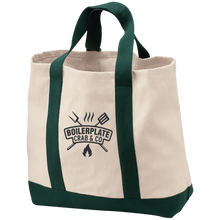 Green Boilerplate Crab & Co Shopping Tote