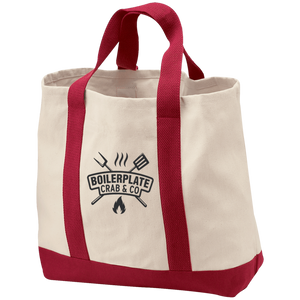 Red Boilerplate Crab & Co Shopping Tote