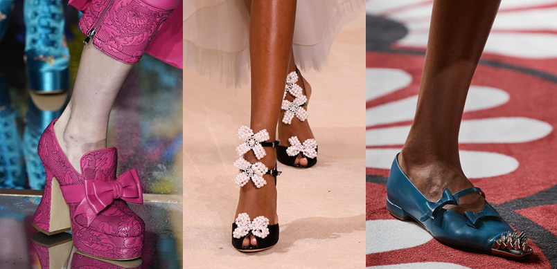 Moschino, Giambattista Valli, Miu Miu, Kaitlyn Pan Shoes, FW2020 fashion trends