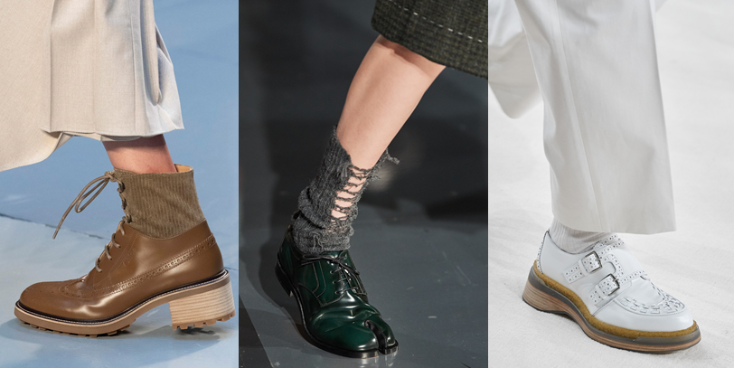 Chloé, Maison Margiela, Hermès kaitlyn pan shoes FW2020 fashion trends