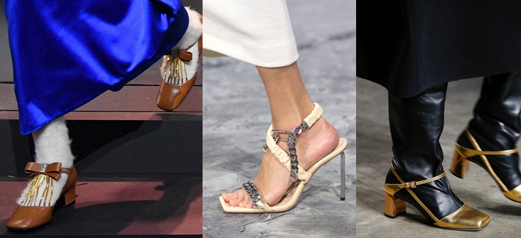 Gucci, Off-White, Ports 1961 sqaure toe kailtyn pan shoes fw2020 fashion trends